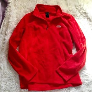 The North Face | Red Quarter Zip Pullover Size L